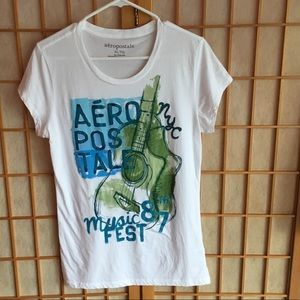 Aeropostal White Short Sleeve Tee